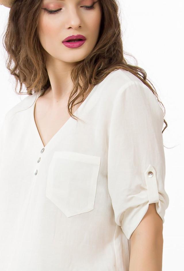 Bluza din in cu vascoza Ellit