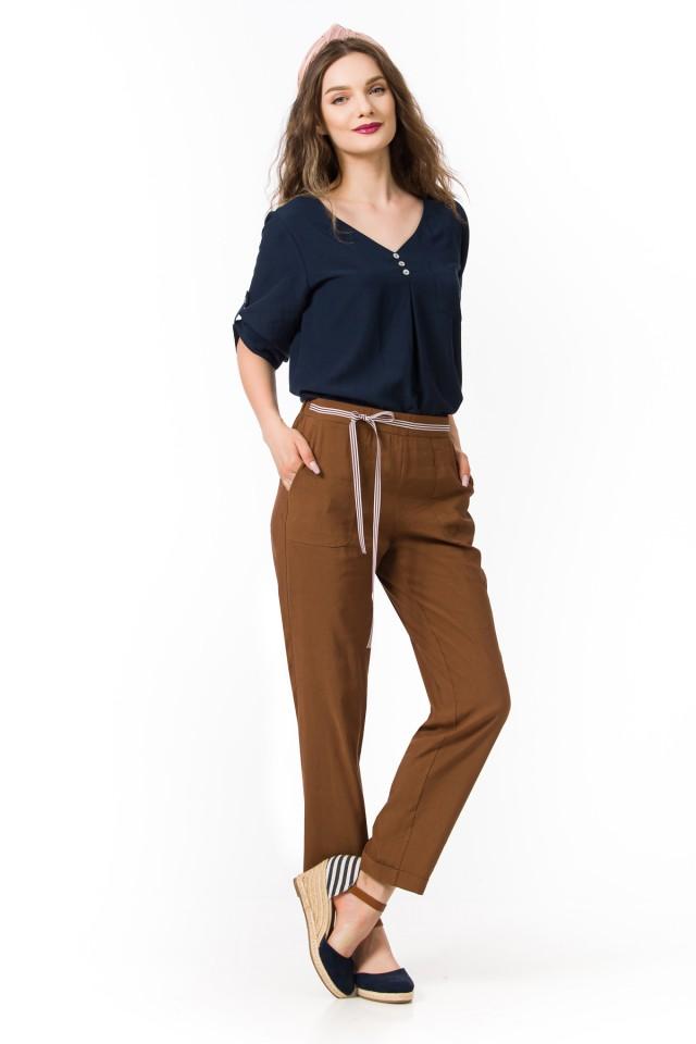 Pantaloni in cu vascoza Addison
