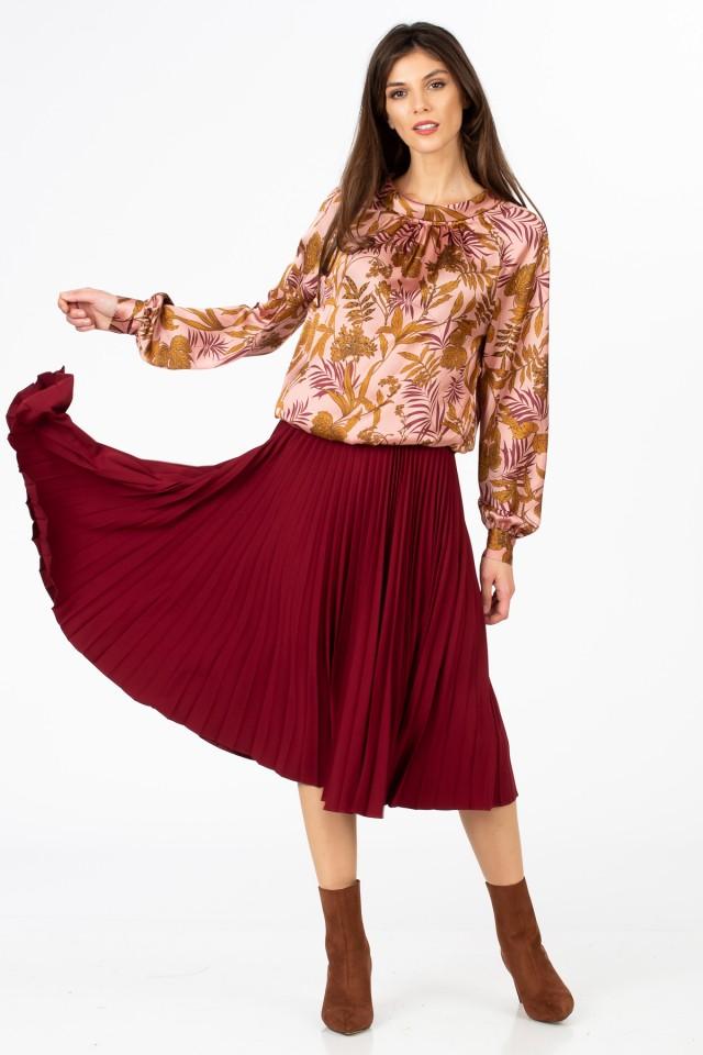 Bluza din satin Fleur