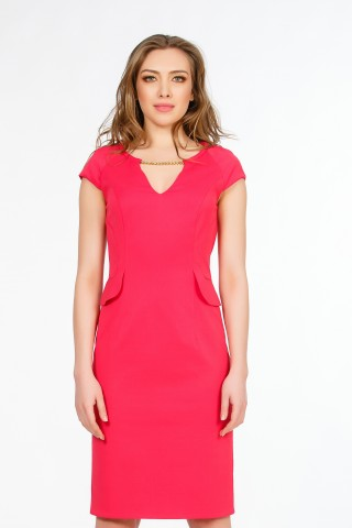 Rochie crep CA3459 Ciclam