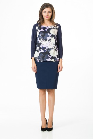 Bluza office Lila